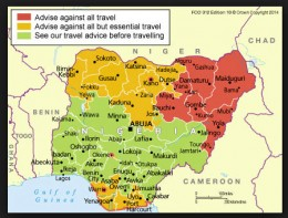 The red is Boko Haram controlled