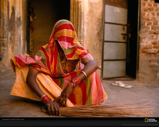 A lower caste woman