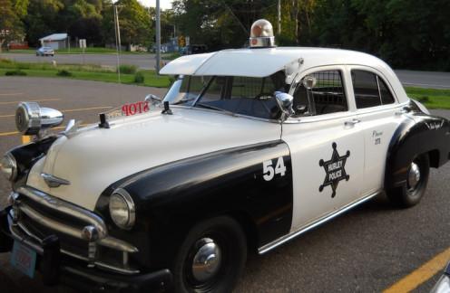 Vintage Chevrolet police car