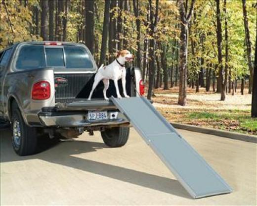 Solvit 62320 Deluxe XL Telescoping Pet Ramp-pickup truck