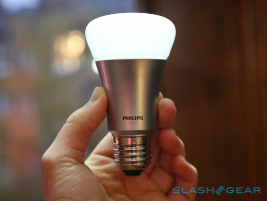 A Phillips Hue WiFi-Connected Bulb
