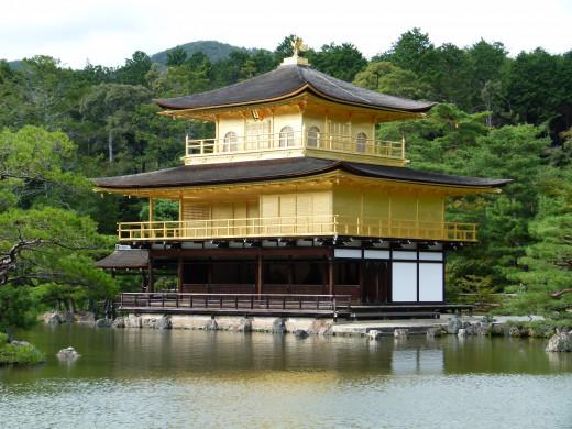 The golden pavilion of Kinkakuji
