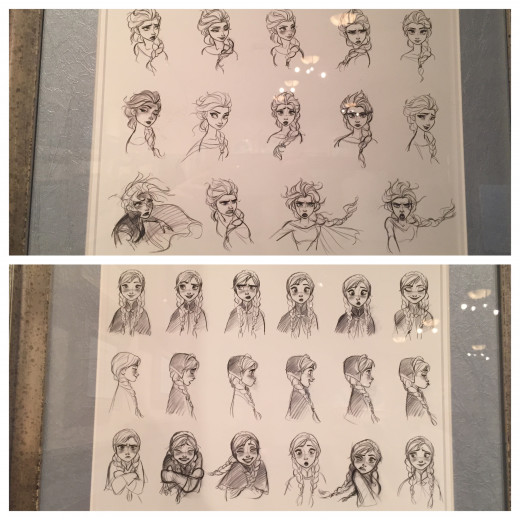 Anna and Elsa sketches