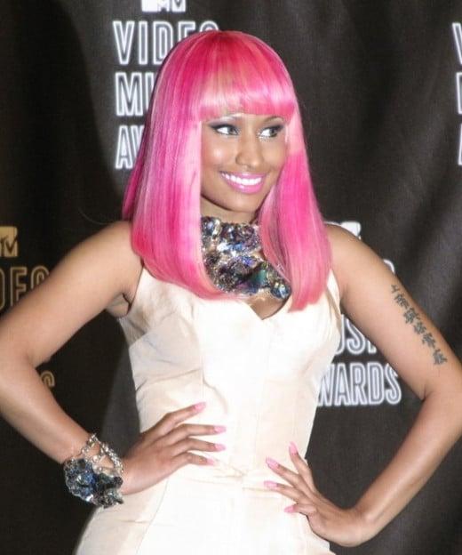 Nicki Minaj at the MTV Video Music Awards.