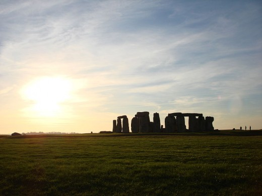 A bright sunset at Stonehenge.  The light is so beautiful!