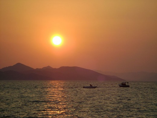 I love this one, with boats off of Lopud Island.  It is so beautiful and comforting.  Off of Dalmatia, Southern Croatia.