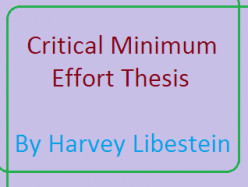 Critical Minimum Effort Thesis of Harvey Libenstein for the Growth and Development of a Country
