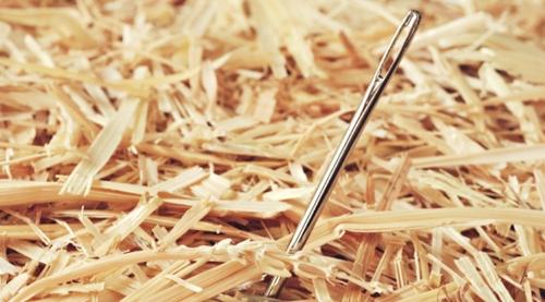 procurar agulha no palheiro