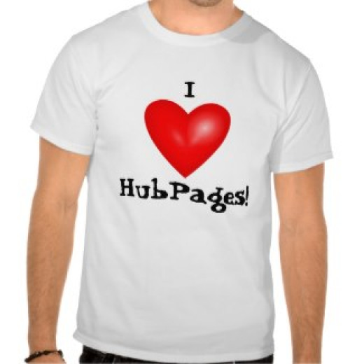 zazzle.com/Sandyspider* In the Search This Store to the right of the page type in I Love HubPages and then you will find this t-shirt.