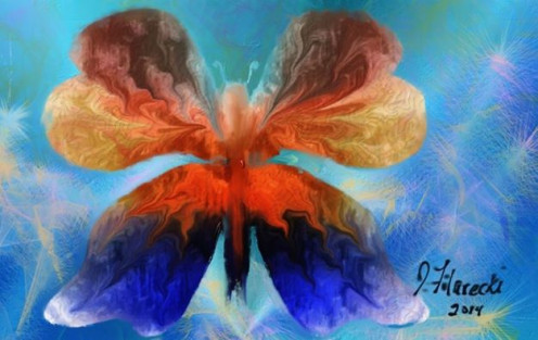 Abstract Butterfly Painted in Corel Painter