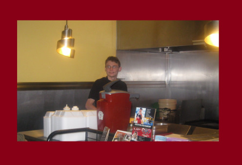 Great Customer Service! One of the servers at theSpices Mediterranean Kitchen.