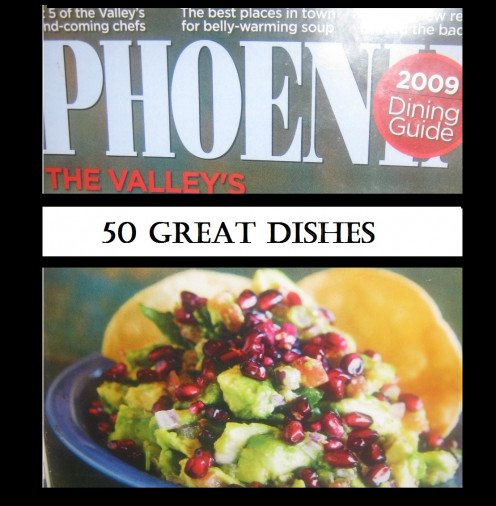 Spices Mediterranean Kitchen, Listed in Phoenix Magazine's 50 Great Dishes Edition, 2009