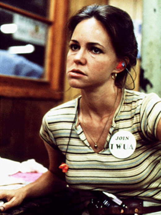 Sally Field as Norma Rae.