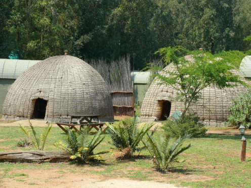 Accommodation in Traditional style Bee-hive Huts