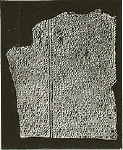 This tablet has been dated at around 1,800 BC. It tells the Babylonian story of the flood with a lot of similarities to the Biblical flood. Too many for scholars to discount as pure co-incidene