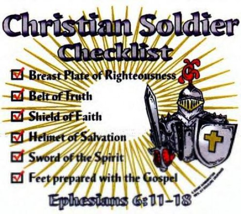 armor of god. Put on the whole armour of God