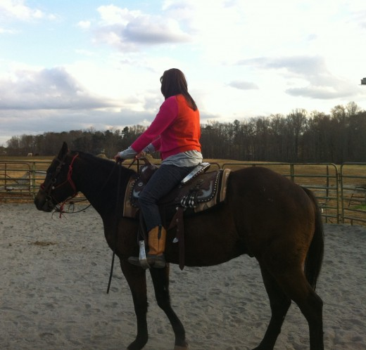 18 month old appaloosa, one of his first rides.