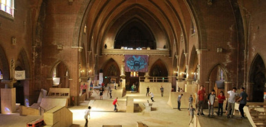 Skatepark inside unused church