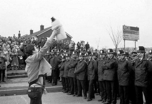 Miners' strike in South Yorkshire in 1984/85