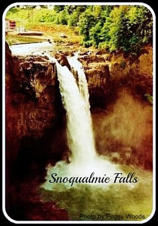Snoqualmie Falls in State of Washington