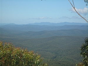 View from Pigeon House Mountain