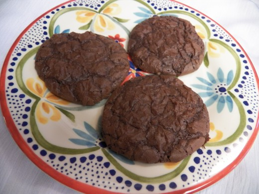 Brownie cookies are easy to make in less than 30 minutes.