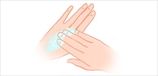 Step 5 - Apply hand cream and massage hands