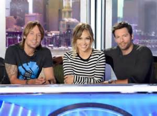 american Idol judges, Keith Urban, Jennifer Lopez and Harry Connick Jf.