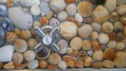 Use Real Sea Shells to Cover Kitchen Splashbacks, Bathroom Tiles