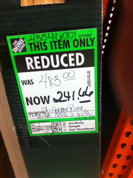 Green tag discounted more than 25%.