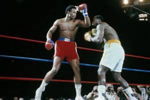 George Foreman knocked Joe Frazier out in two heats to become the heavyweight champion of the world.