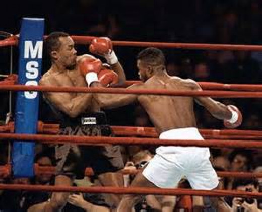 Terrible Terry Norris beat Sugar Ray Leonard in defense of his junior middleweight title. Norris floored Leonard during the contest.