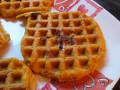 Gluten-free and vegan pumpkin pecan waffles