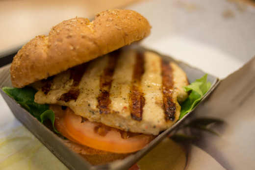 There are plenty of healthy options to choose from at various fast-food places.  This grilled chicken from Chick-fil-A is one example.