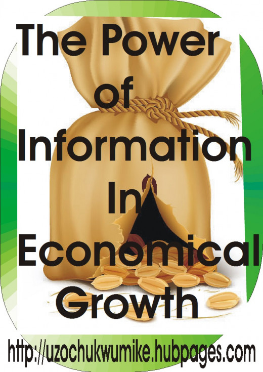 The power of information in economic growth. Information promotes economic growth.