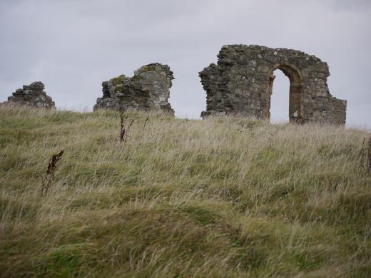 The ruins of St Dwynwen's Church in Llanddwyn