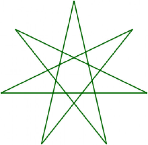"This seven-pointed star or heptagram is used by some otherkin groups as an identifying symbol. It is believed the term ""otherkin"" originated from elven online communities."