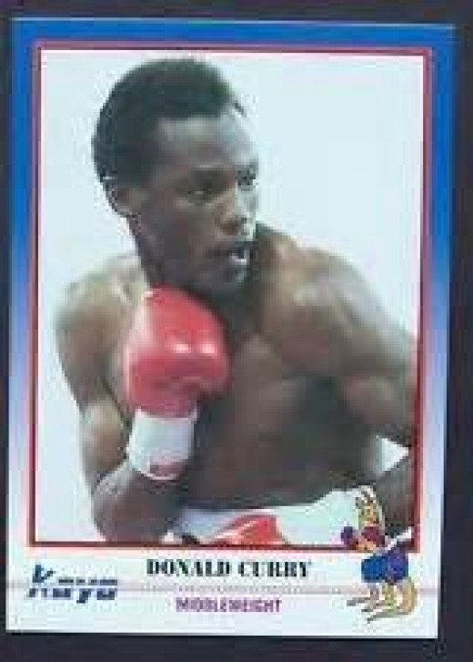Donald Curry on a K.O. boxing card. Curry is a former 147 and 154 pound champion.