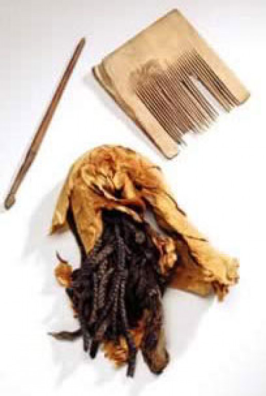 Ancient Egyptian Hair Weaving Tools.