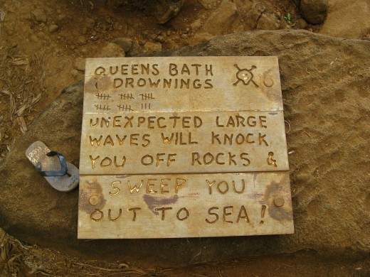 Number of Queen's Bath Kauai drownings.