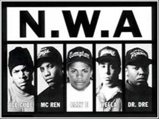 N.W.A. was comprised of Easy E, Dr. Dre, Ice Cube, MC Wren and DJ Yella.