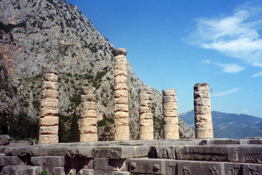 Temple of Apollo on Mt. Parnassos (own photo)