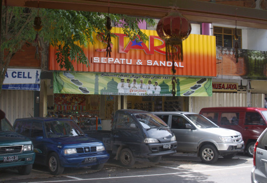 Cars for hire in West Borneo.
