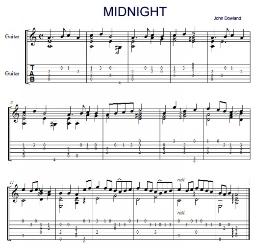 Guitar best guitar tabs : Easy classical - fingerstyle guitar lesson, 'Midnight' by John ...