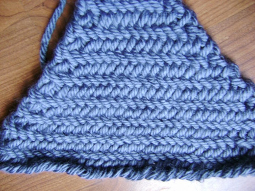 Decreases in Herringbone Stitch