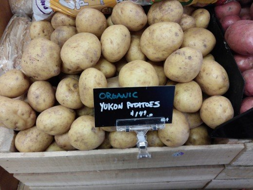 Yukon Gold potatoes for sale.