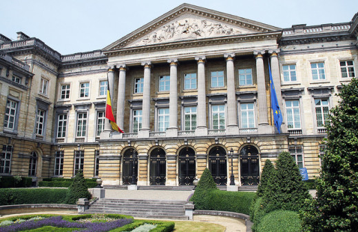 Belgian Federal Parliament in Brussels.
