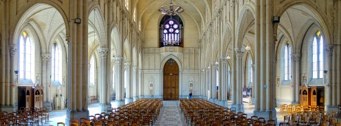 View of the interior of the Church of Saint-Michel at Quesnoy-sur-Deûle.