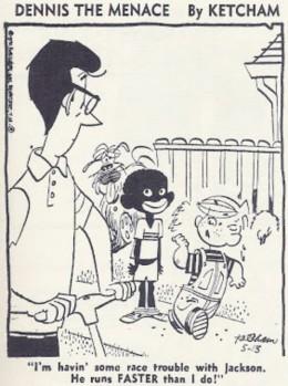 Hank Ketcham's 1970 depiction of a black child in Dennis the Menace