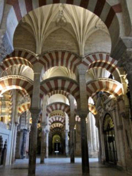 Moorish Arches in the Cathedral-Mosque of Cordoba